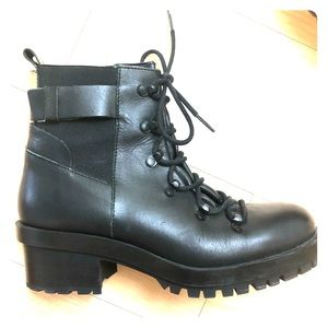 Zara Mid-Rise Combat Boots